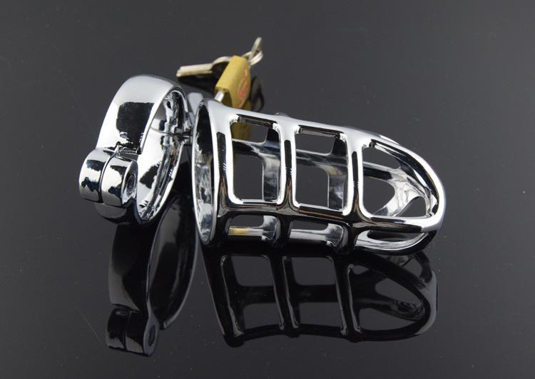 Sexy CB753 Stainless steel Male Chastity Cage Device Belt Bondage UA3 Best Gift