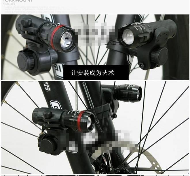 Bike-Bicycle-Cycling-Front-Fork-Frame-Stem-Tube-Light-Holder-Extender-Seats-QTY1